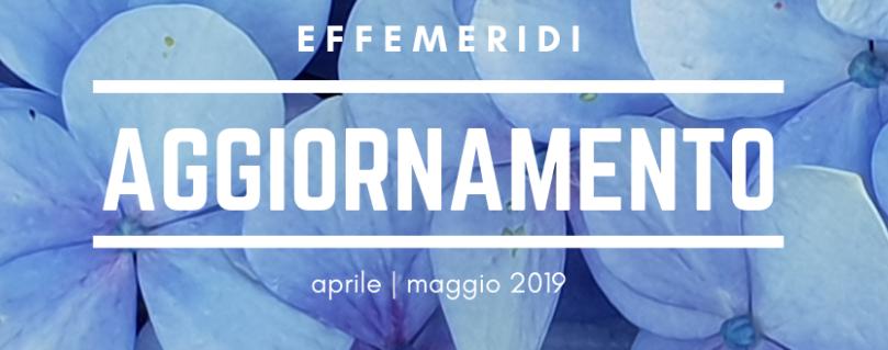 Aggiornamento aprile - maggio blog